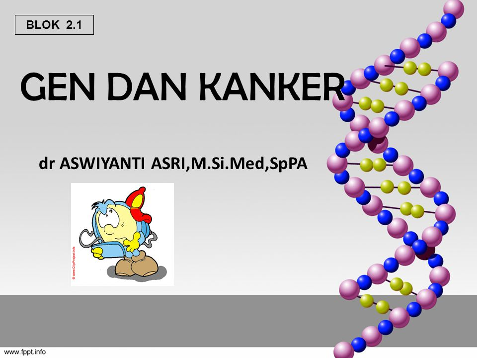 GEN DAN KANKER dr ASWIYANTI ASRI,M.Si.Med,SpPA BLOK 2.1
