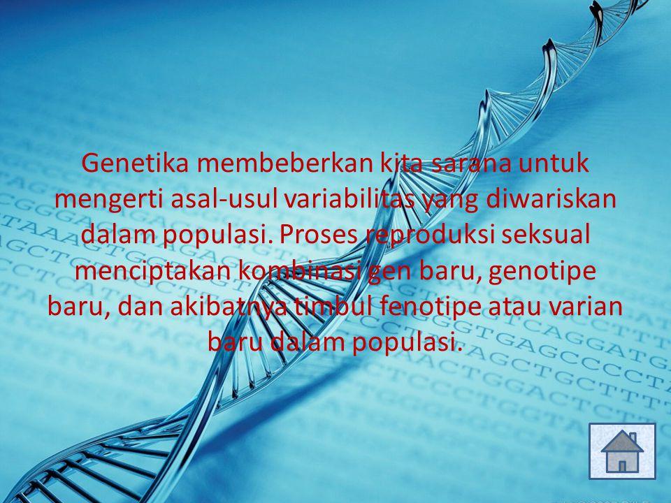 Genetika membeberkan kita sarana untuk mengerti asal-usul variabilitas yang diwariskan dalam populasi. Proses reproduksi seksual menciptakan kombinasi