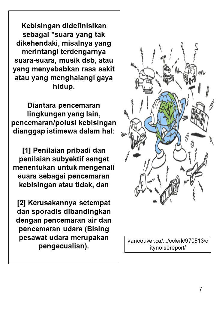 7 Kebisingan didefinisikan sebagai
