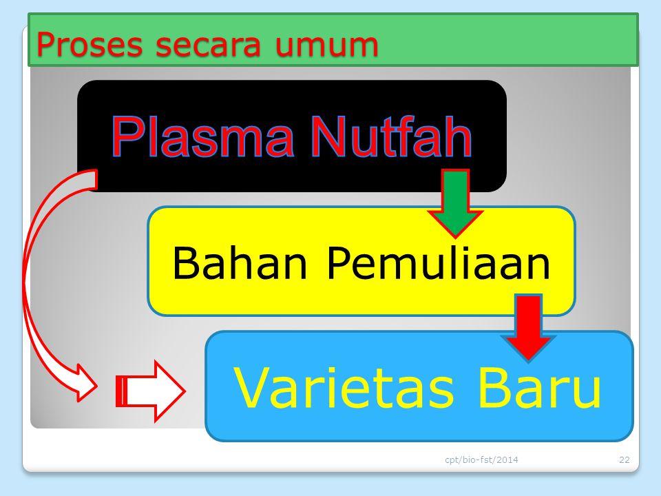 Proses secara umum cpt/bio-fst/201422 Bahan Pemuliaan Varietas Baru