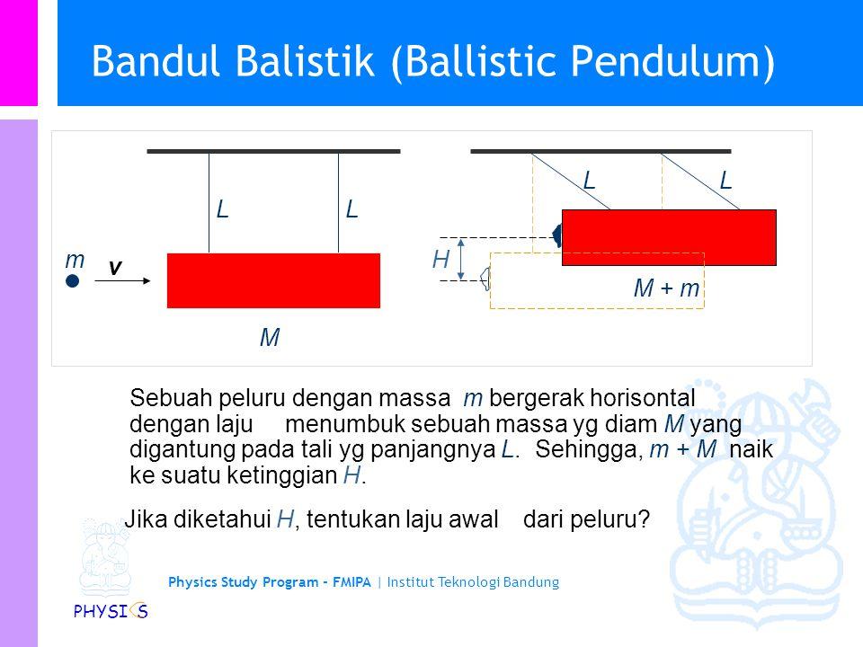 Physics Study Program - FMIPA | Institut Teknologi Bandung PHYSI S Komentar tentang Kekekalan Energi Kita telah melihat bahwa total energi kinetik dar