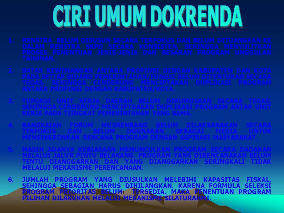 DPRD wajib menjamin menjamin bahwa seluruh usulan rencana program yang disampaikan oleh semua SKPD dalam penyusunan KUA dan RKA- SKPD adalah: 1.
