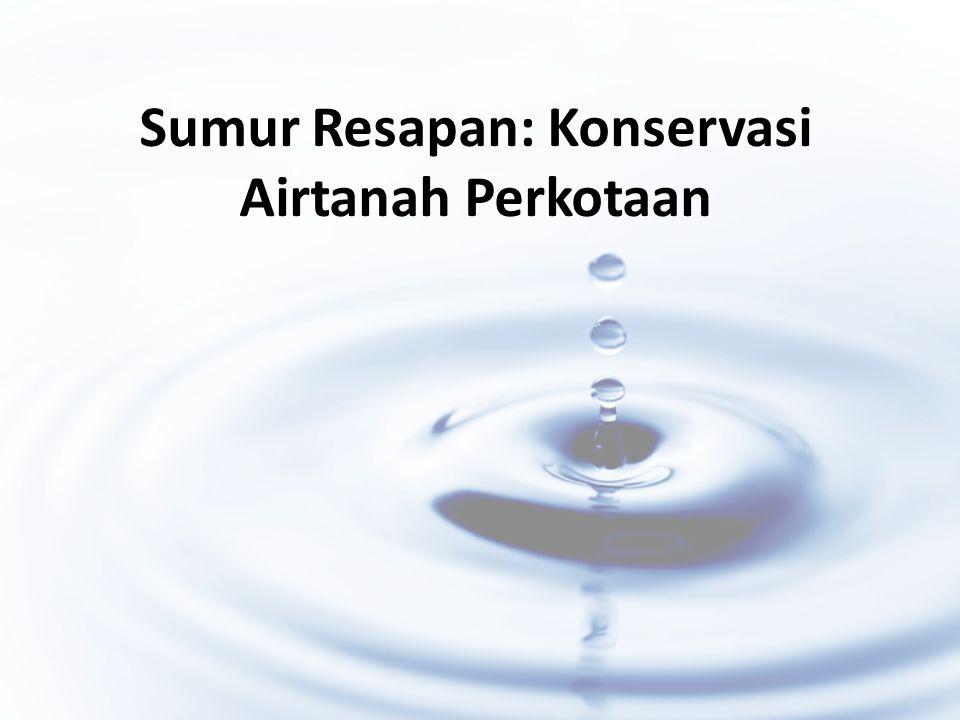 Latar Belakang Laju pertumbuhan penduduk Indonesia 1,45% menjadi 1,49% Kebutuhan ruang meningkatKebutuhan airtanah meningkat Perubahan lahan terbuka  lahan hunian Ketersediaan airtanah menurun Krisis air Konservasi airtanah Rancangan sumur resapan