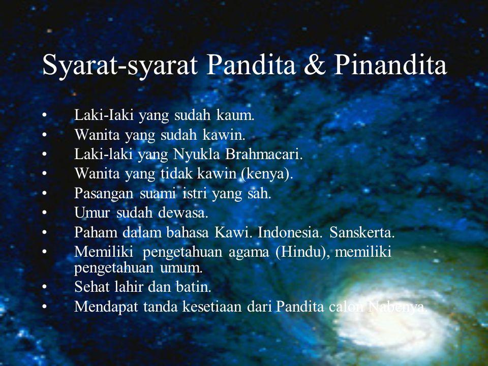 Syarat-syarat Pandita & Pinandita Laki-Iaki yang sudah kaum.