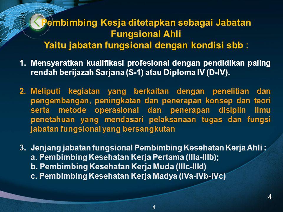 4 1.Mensyaratkan kualifikasi profesional dengan pendidikan paling rendah berijazah Sarjana (S-1) atau Diploma IV (D-IV). 2.Meliputi kegiatan yang berk