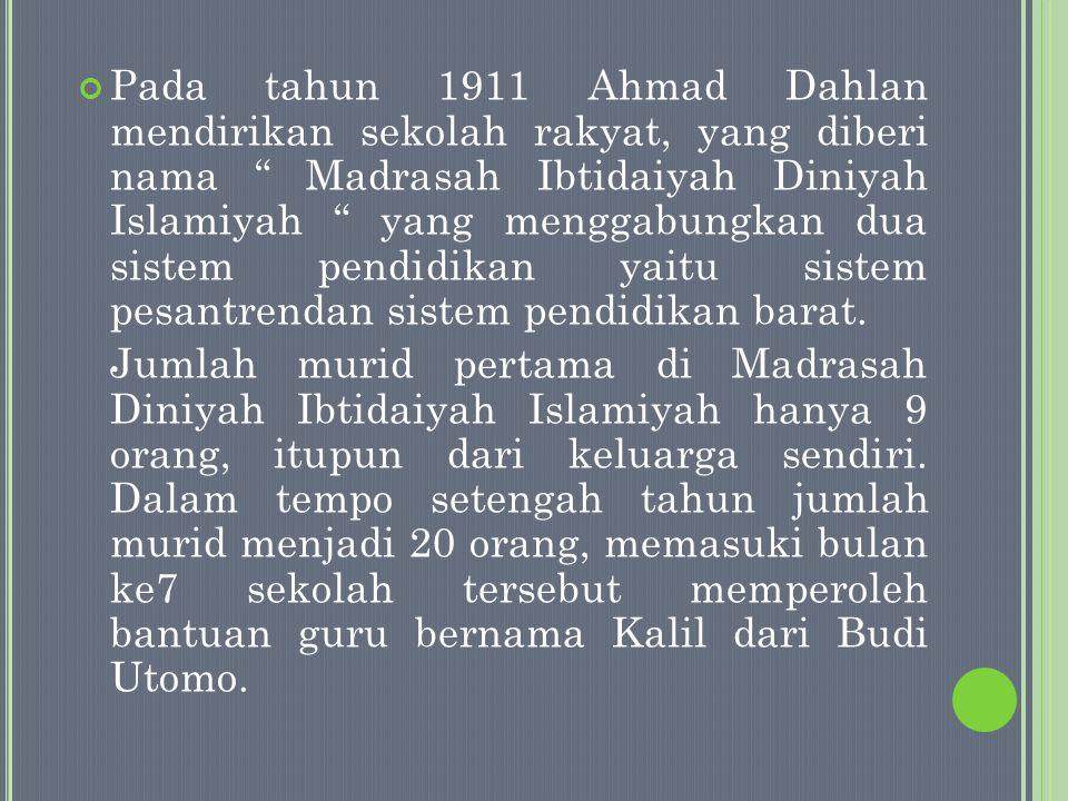 Sebelum Muhammadiyah resmi dideklarasikan ada 5 langkah yang telah diambil oleh Ahmad Dahlan sebagai proses awal untuk mendirikan Muhammadiyah : 1.
