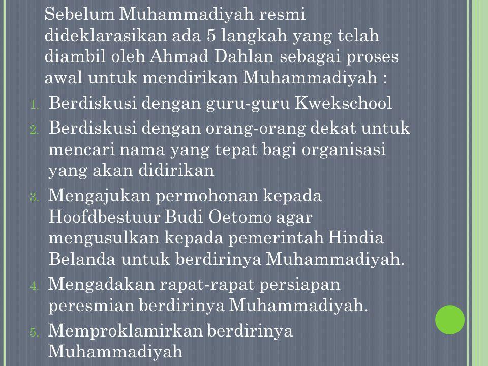 P ERTANYAAN : Mengapa Ahmad Dahlan belajar tentang manajemen organisasi dari Budi Utomo .