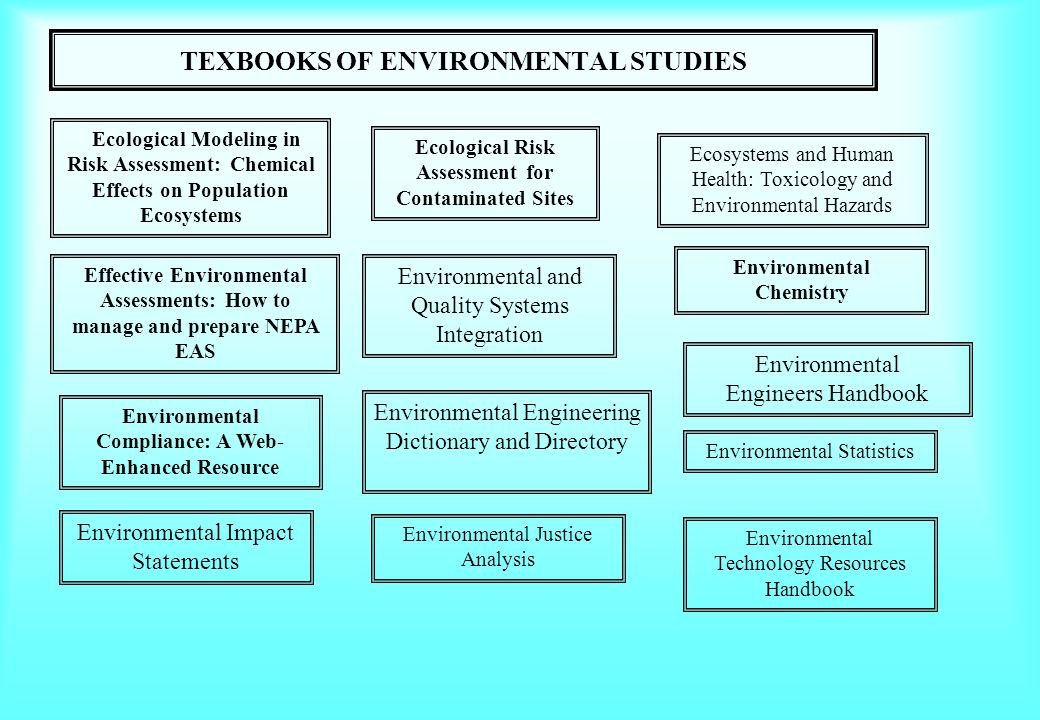 TEXBOOKS OF ENVIRONMENTAL STUDIES Ecosystems and Human Health: Toxicology and Environmental Hazards Ecological Risk Assessment for Contaminated Sites