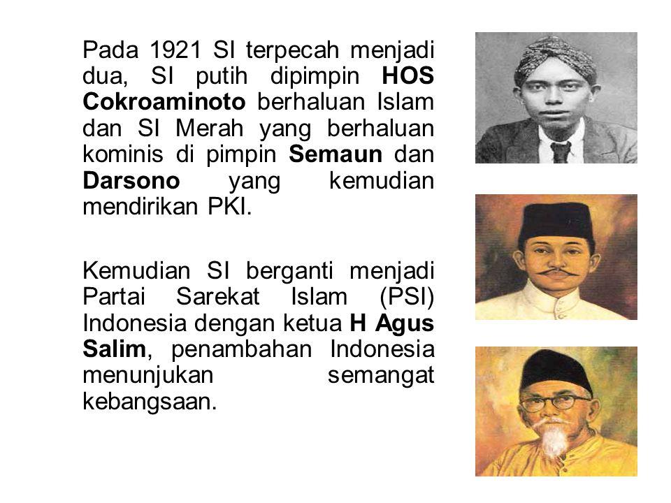 Indische Partij Didirikan di Bandung pada tanggal 25 Desember 1912 oleh : Dr.