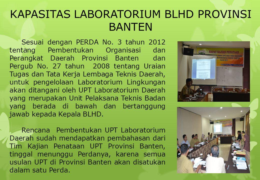 Sesuai dengan PERDA No. 3 tahun 2012 tentang Pembentukan Organisasi dan Perangkat Daerah Provinsi Banten dan Pergub No. 27 tahun 2008 tentang Uraian T