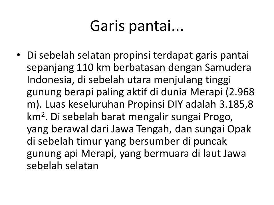Ibu kota jogja Ibukota propinsi Daerah Istimewa Yogyakarta adalah Yogyakarta, secara administratif DIY dibagi dalam 1 (satu) kota Yogyakarta dan 4 (empat) kabupaten, Sleman, Bantul, Kulon Progo, Gunung Kidul