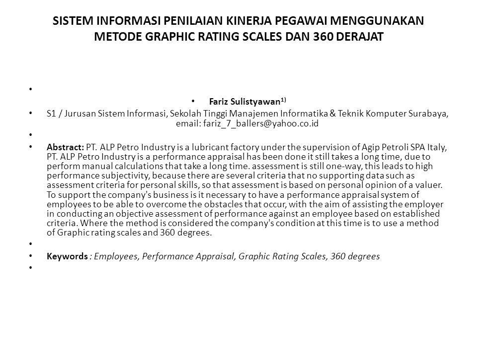 Fariz Sulistyawan 1) S1 / Jurusan Sistem Informasi, Sekolah Tinggi Manajemen Informatika & Teknik Komputer Surabaya, email: fariz_7_ballers@yahoo.co.id Abstract: PT.