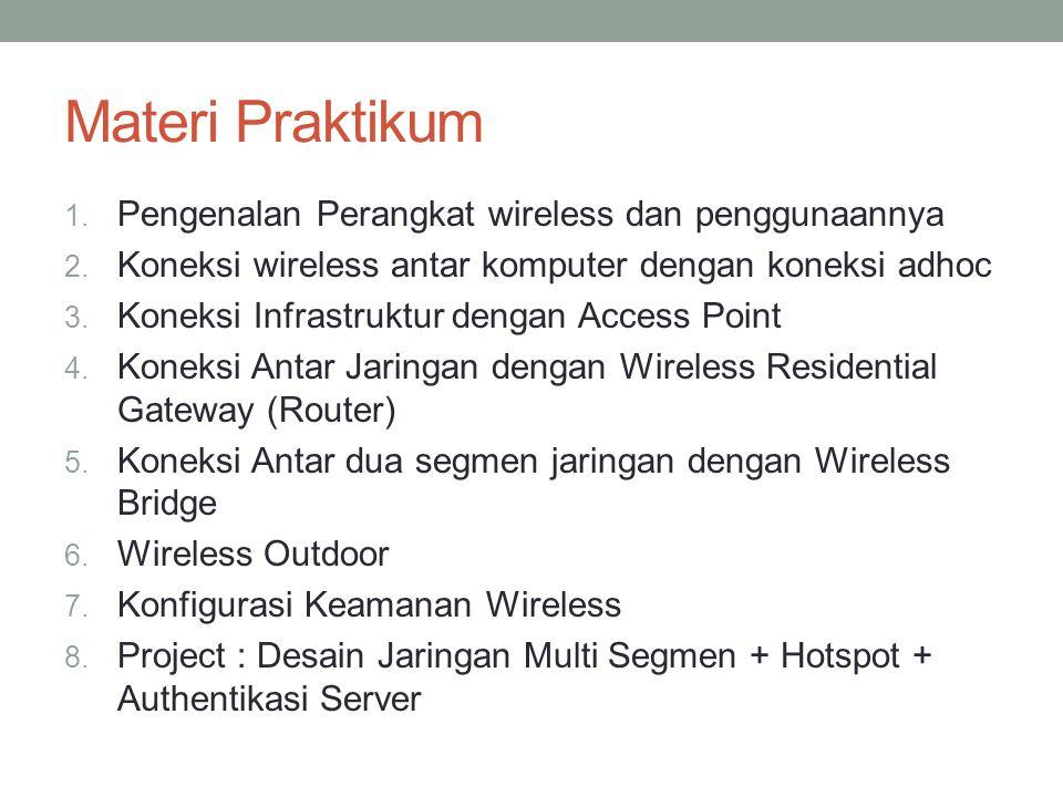 Materi Praktikum 1.Pengenalan Perangkat wireless dan penggunaannya 2.
