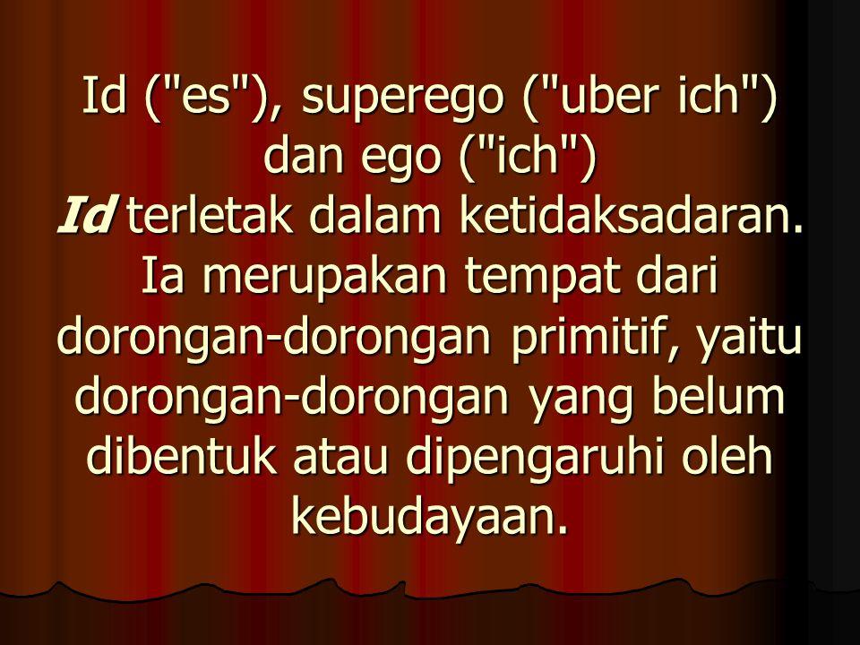 Superego adalah suatu sistem yang merupakan kebalikan dari id.