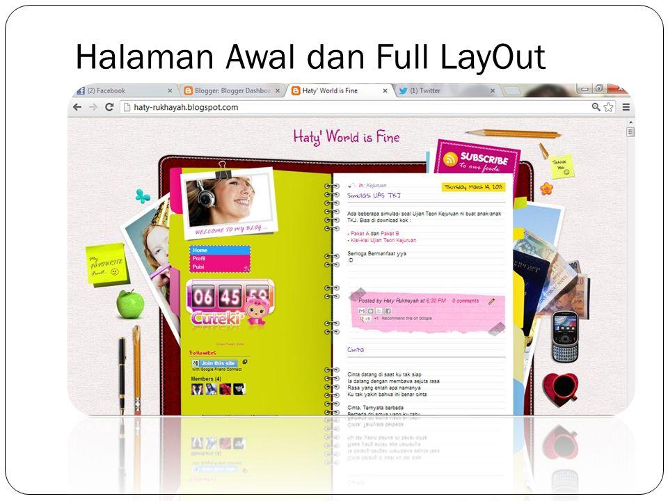 Halaman Awal dan Full LayOut