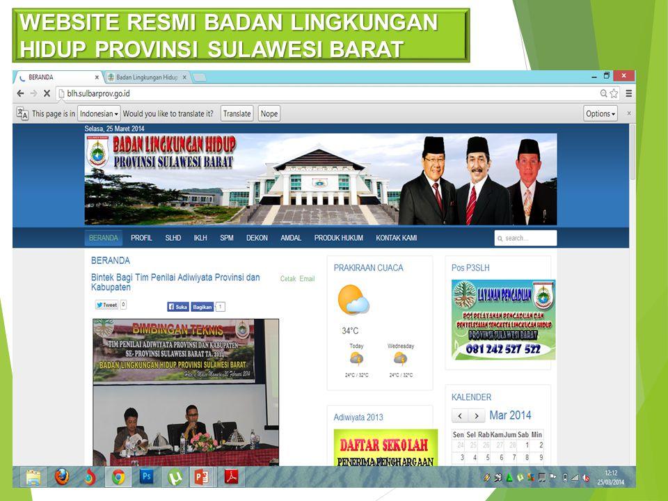 WEBSITE RESMI BADAN LINGKUNGAN HIDUP PROVINSI SULAWESI BARAT