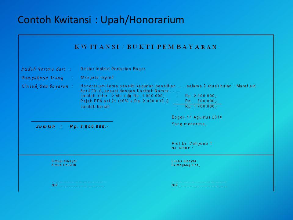 Contoh Daftar : Upah/Honorarium