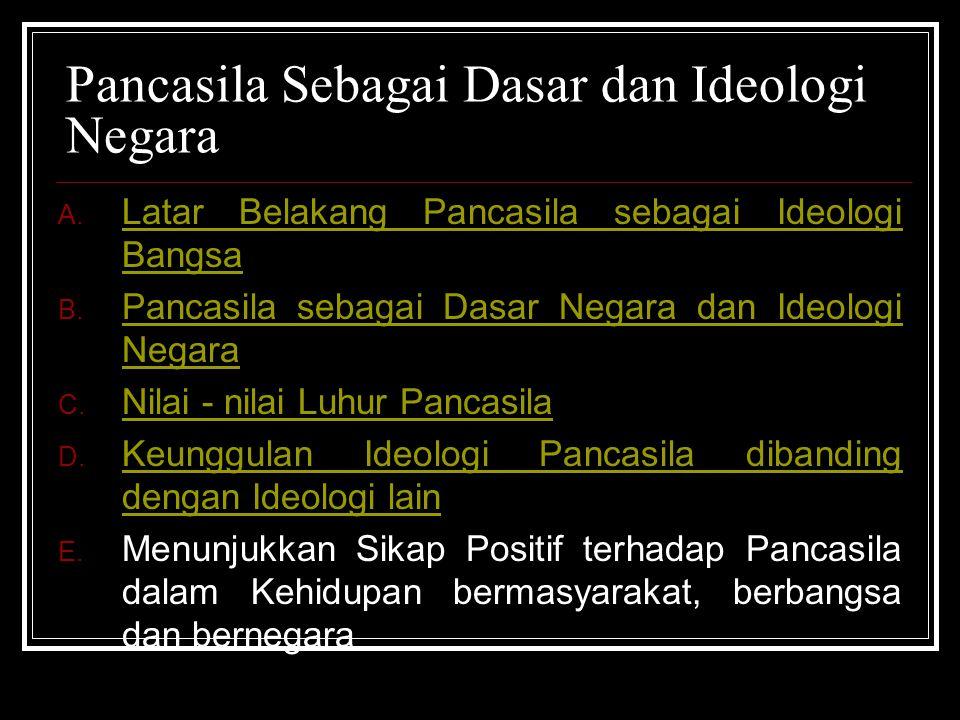 Pancasila Sebagai Dasar dan Ideologi Negara A.