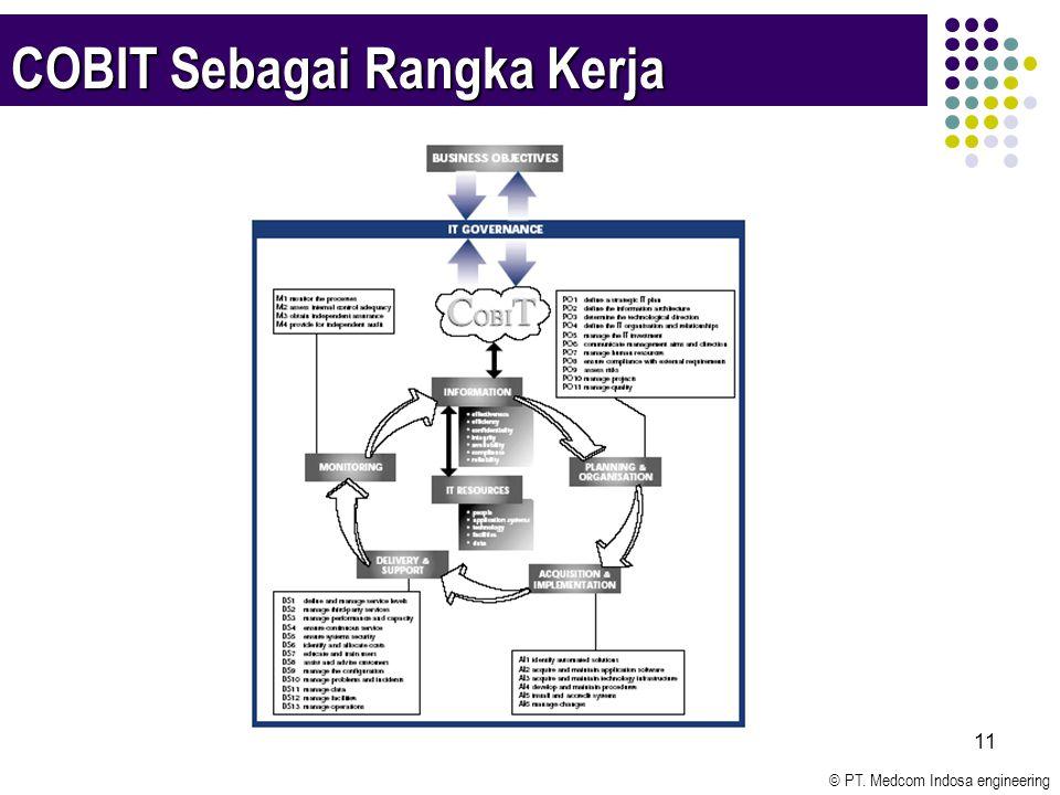 © PT. Medcom Indosa engineering 11 COBIT Sebagai Rangka Kerja