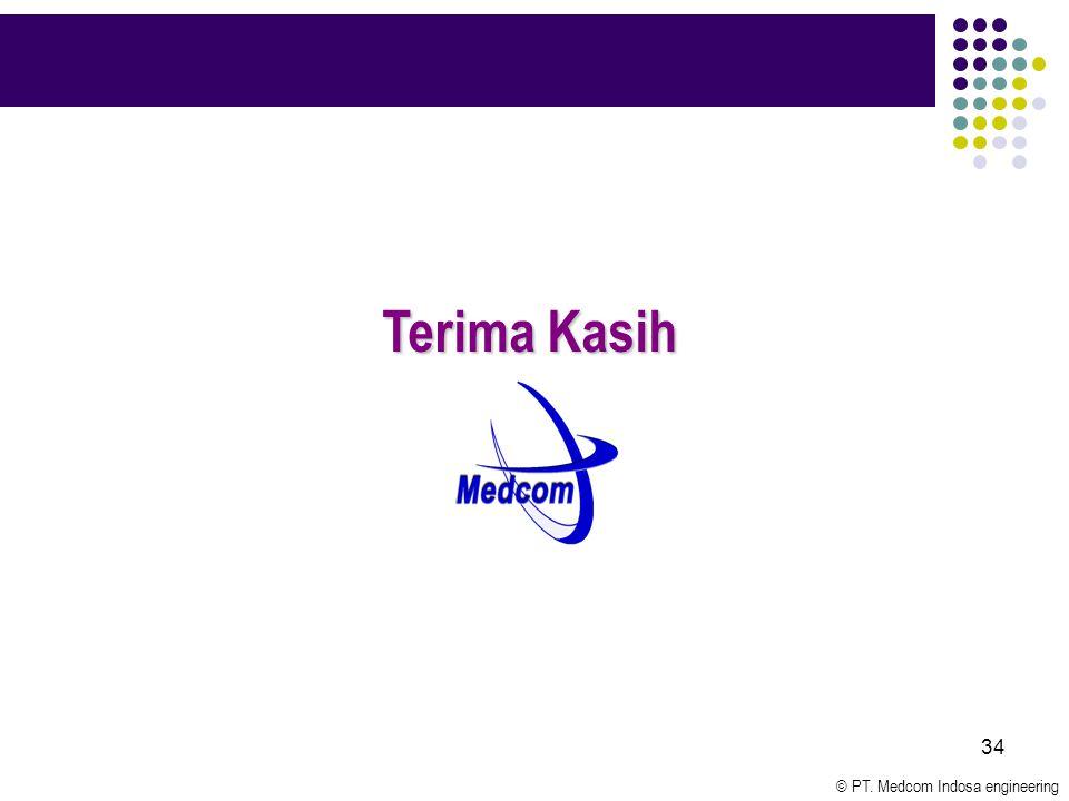 © PT. Medcom Indosa engineering 34 Terima Kasih