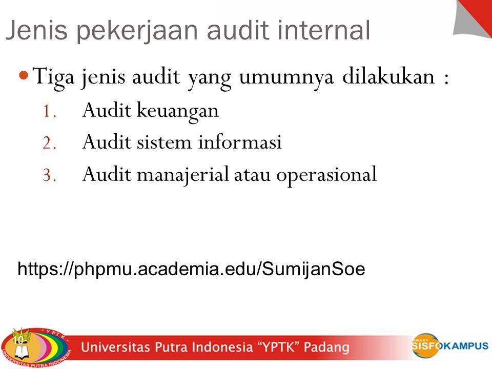 Sistem Inforrmasi Akuntansi Audit Sistem Informasi 10-26 2 Pengembangan dan Akuisisi Program dilakukan sesuai otorisasi umum dan khusus manajemen.