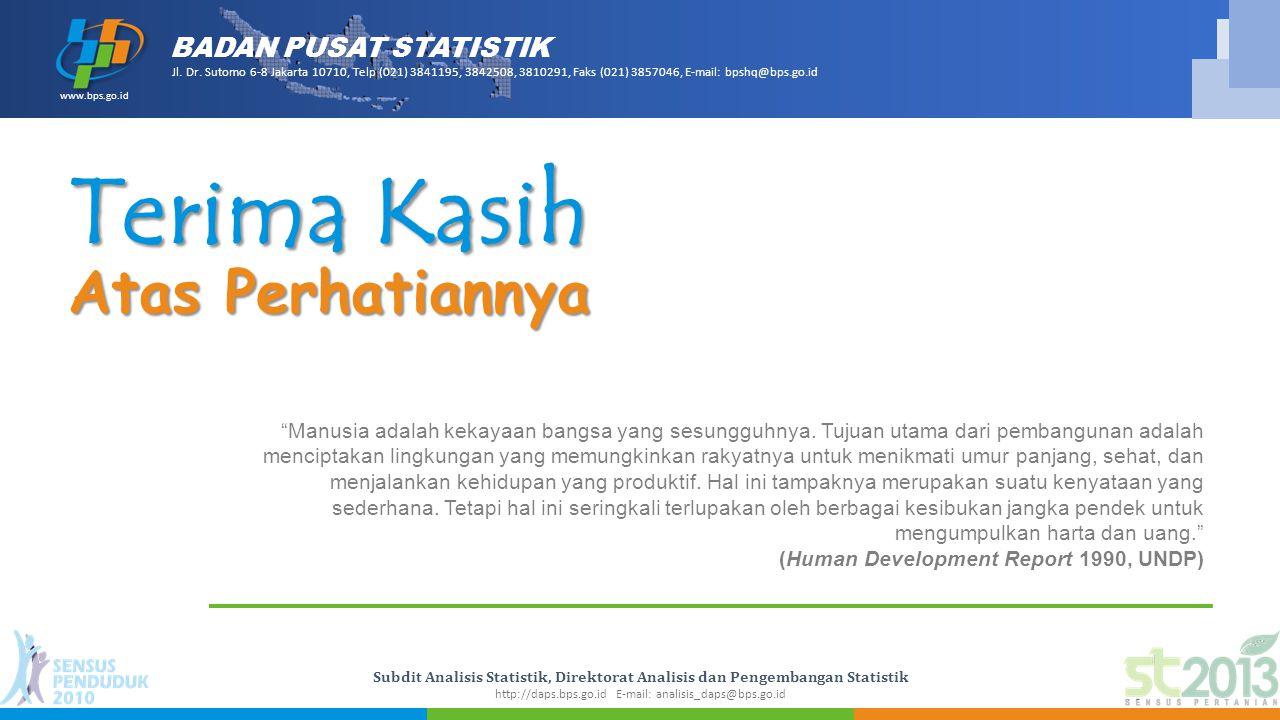 BADAN PUSAT STATISTIK www.bps.go.id Jl.Dr.