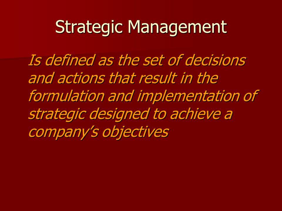 Dimensi- dimensi Keputusan Strategik Membutuhkan keputusan manajemen puncak.