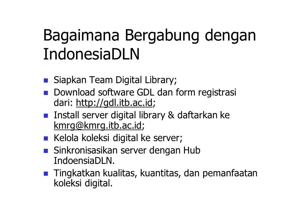 Contoh sebuah Network: Agriculture Network Group of Farmers B Group of Farmers A Group of Researchers AgriHub Server IndonesiaDLN Hub Server Other Sub