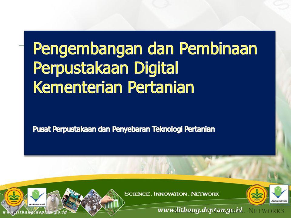 www.litbang.deptan.go.id Science. Innovation. Network S CIENCE. I NNOVATION. N ETWORKS