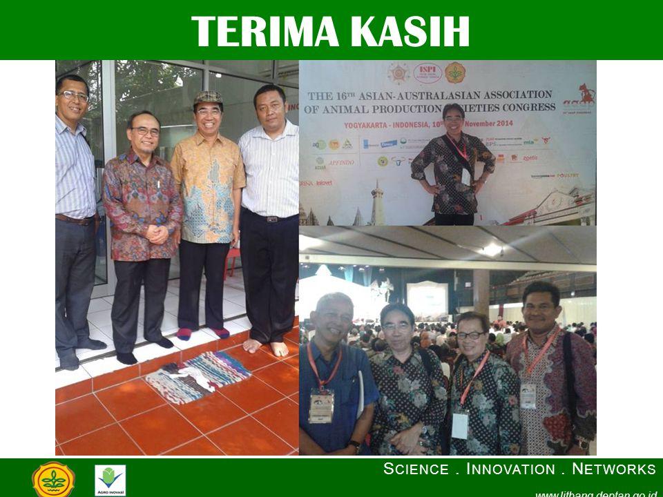TERIMA KASIH S CIENCE. I NNOVATION. N ETWORKS www.litbang.deptan.go.id