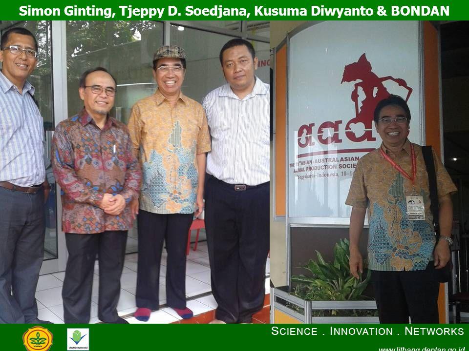 Simon Ginting, Tjeppy D. Soedjana, Kusuma Diwyanto & BONDAN S CIENCE.