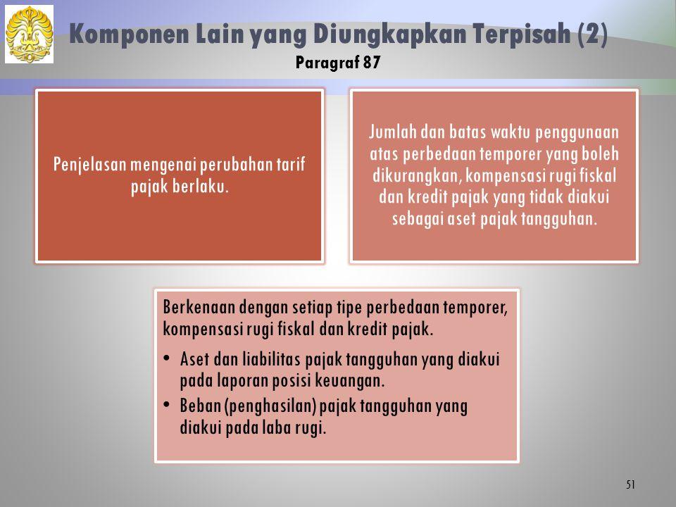 Penjelasan mengenai perubahan tarif pajak berlaku.