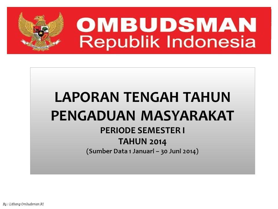 12 Jumlah Laporan di Masing-masing Kantor Perwakilan Ombudsman Republik Indonesia Selama Periode 1 Jan – 30Juni 2014 By : Litbang Ombudsman RI