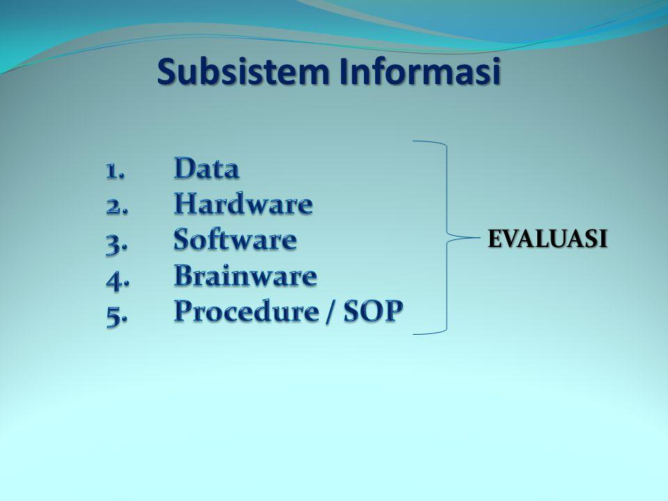Subsistem Informasi EVALUASI