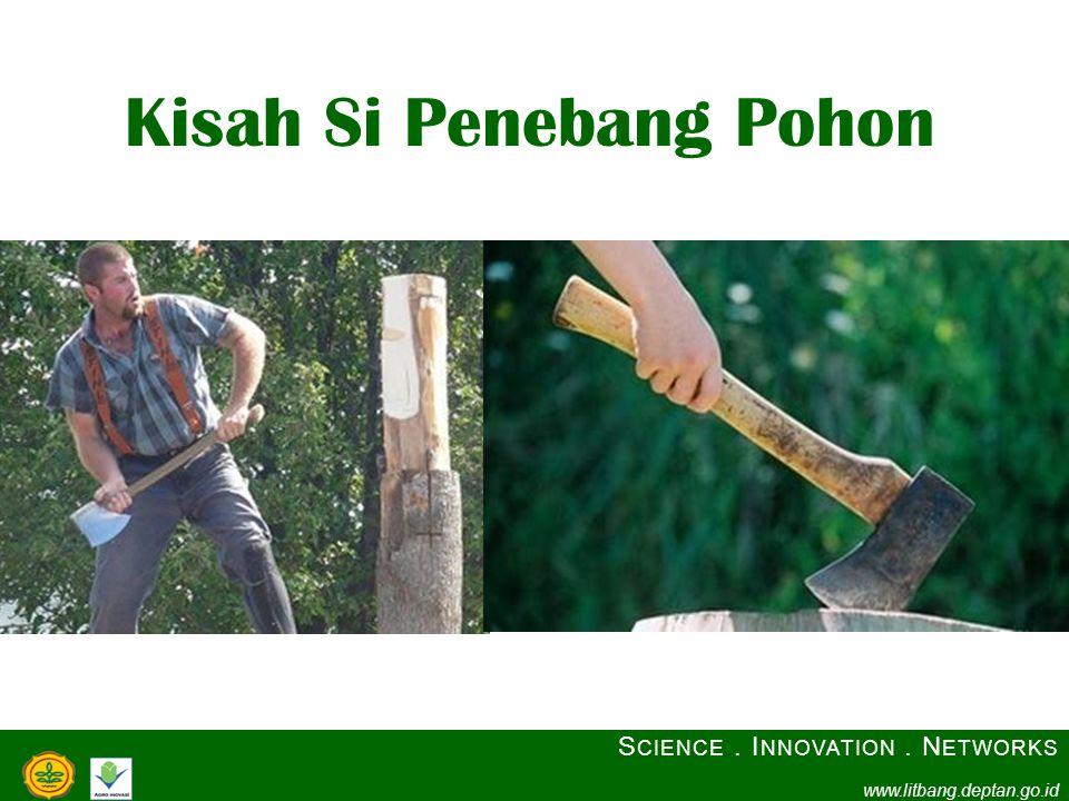 Kisah Si Penebang Pohon S CIENCE. I NNOVATION. N ETWORKS www.litbang.deptan.go.id