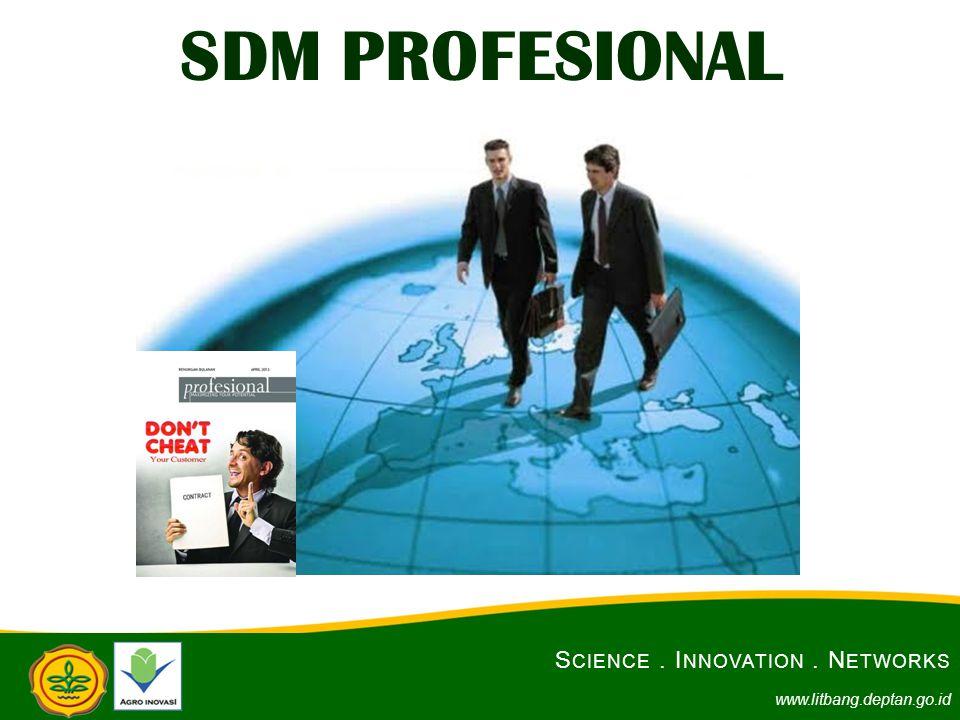 SDM PROFESIONAL S CIENCE. I NNOVATION. N ETWORKS www.litbang.deptan.go.id