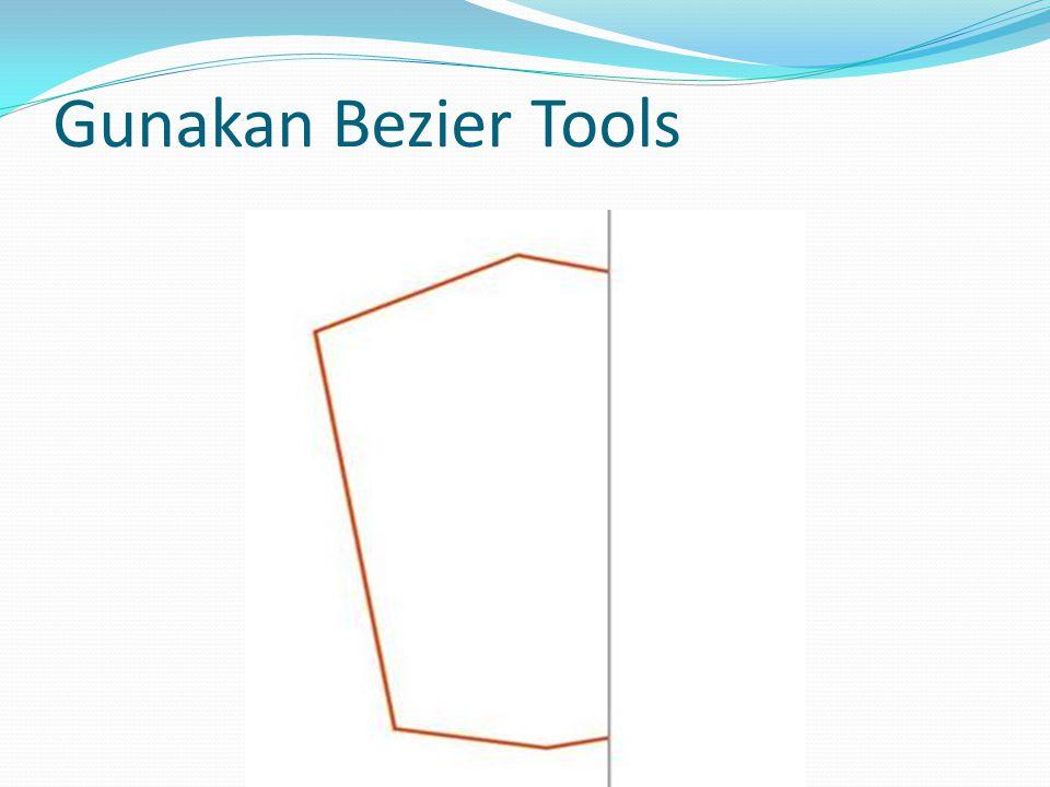 Gunakan Bezier Tool (Membuat Garis tengah)