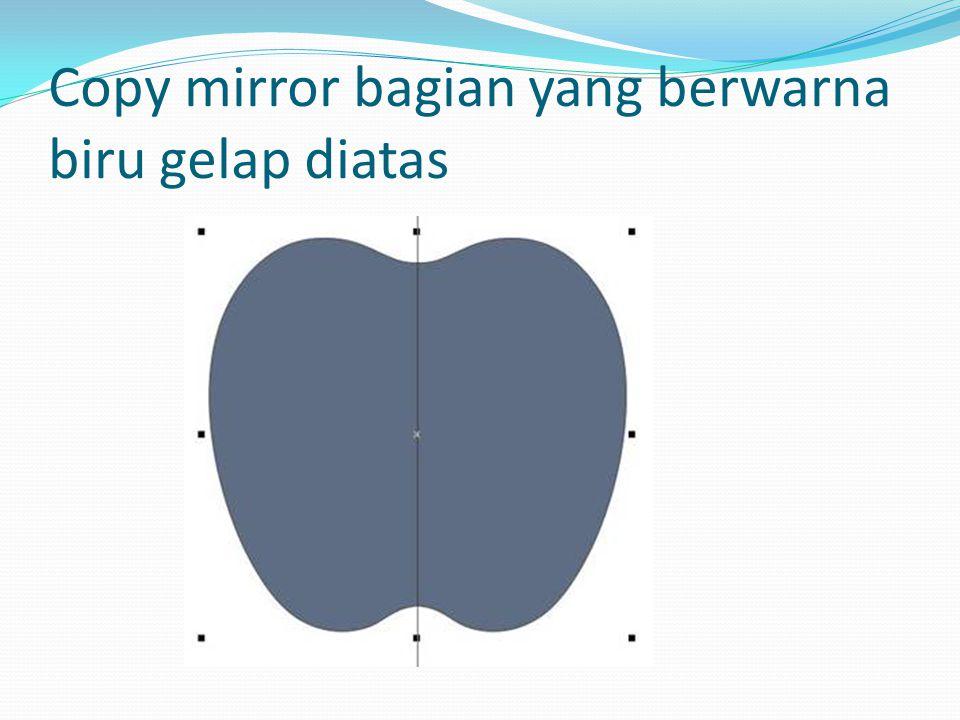 Copy mirror bagian yang berwarna biru gelap diatas