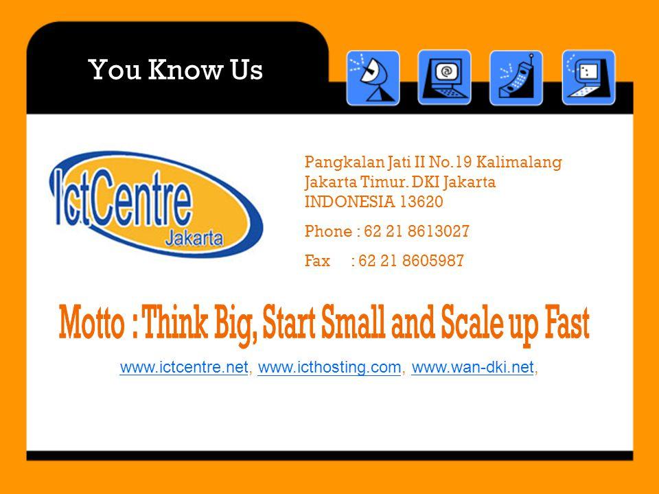 You Know Us Pangkalan Jati II No.19 Kalimalang Jakarta Timur.