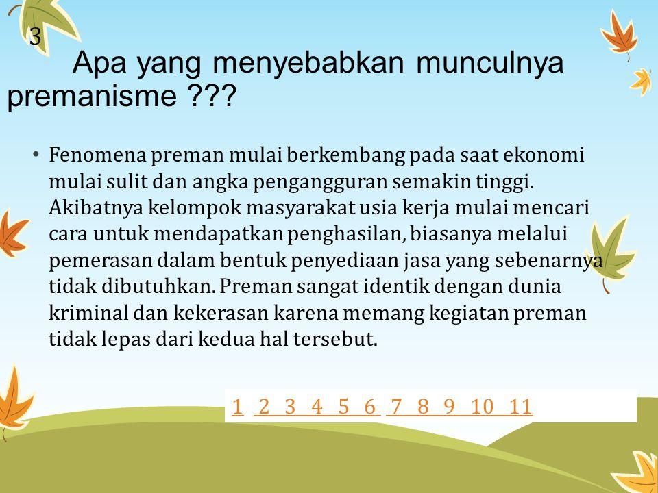 Apa penyebab premanisme mulai marak di ibu kota??.