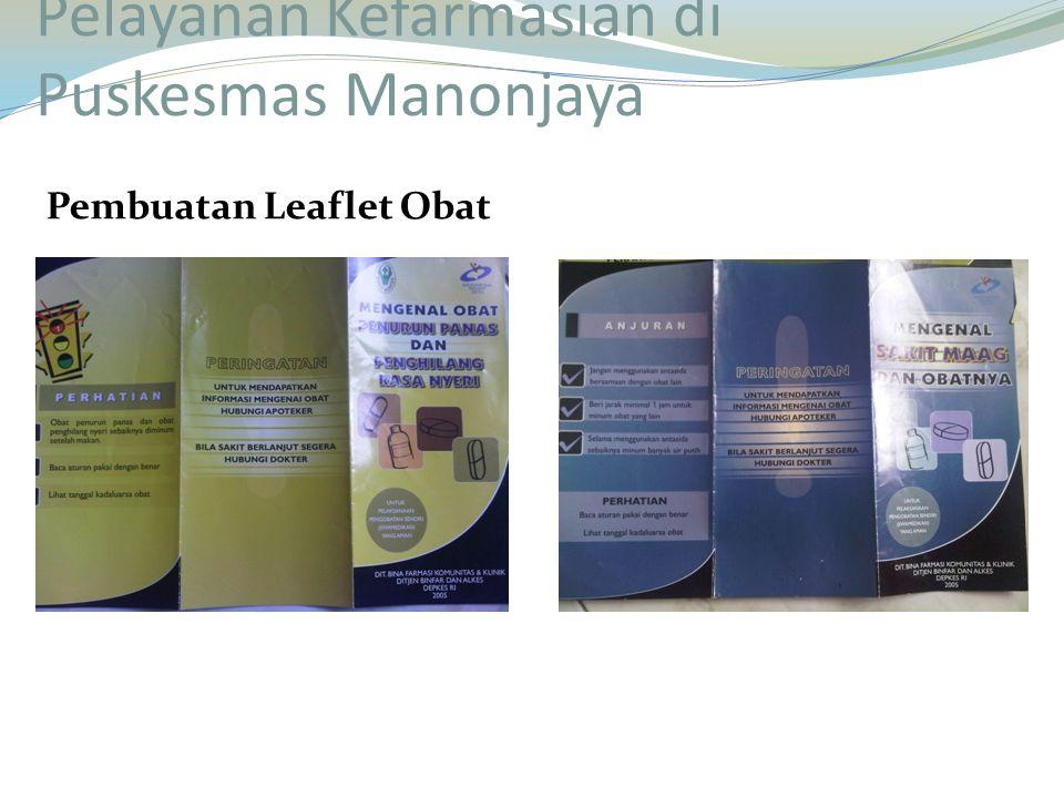 Pembuatan Leaflet Obat Pelayanan Kefarmasian di Puskesmas Manonjaya