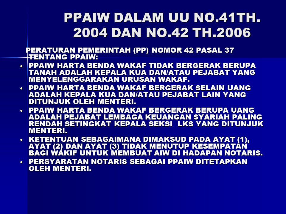 PPAIW DALAM UU NO.41TH.