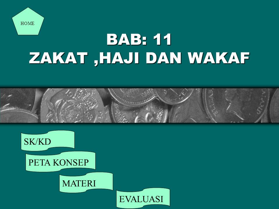 BAB: 11 ZAKAT,HAJI DAN WAKAF SK/KD PETA KONSEP MATERI EVALUASI HOME