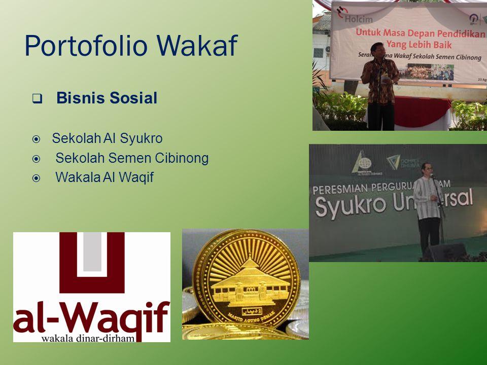 Portofolio Wakaf  Bisnis Sosial  Sekolah Al Syukro  Sekolah Semen Cibinong  Wakala Al Waqif