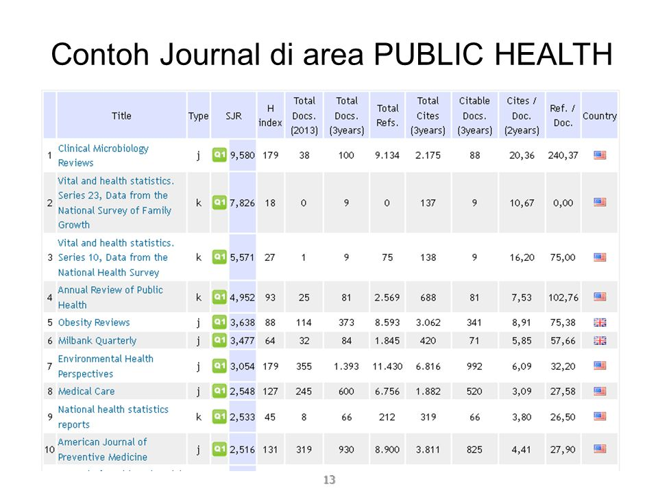 Contoh Journal di area PUBLIC HEALTH 13