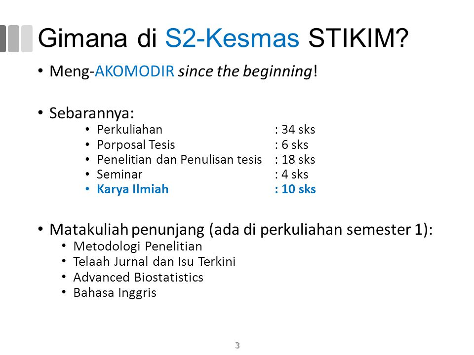 Gimana di S2-Kesmas STIKIM.Meng-AKOMODIR since the beginning.
