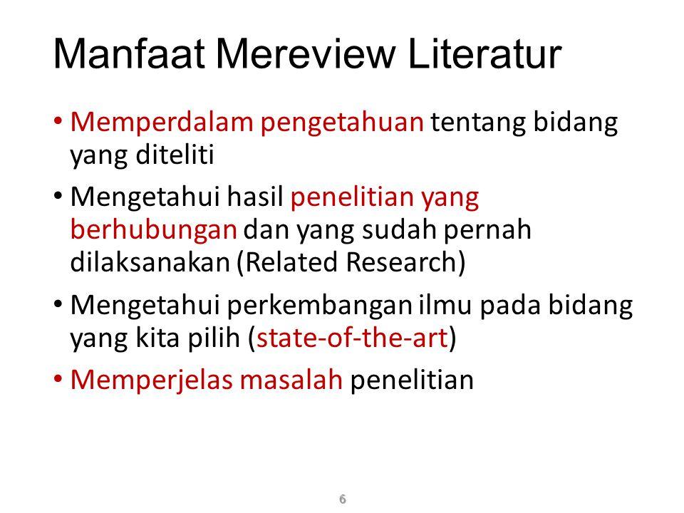 Jenis Paper: (1) Technical Paper (2) Survey Paper 17