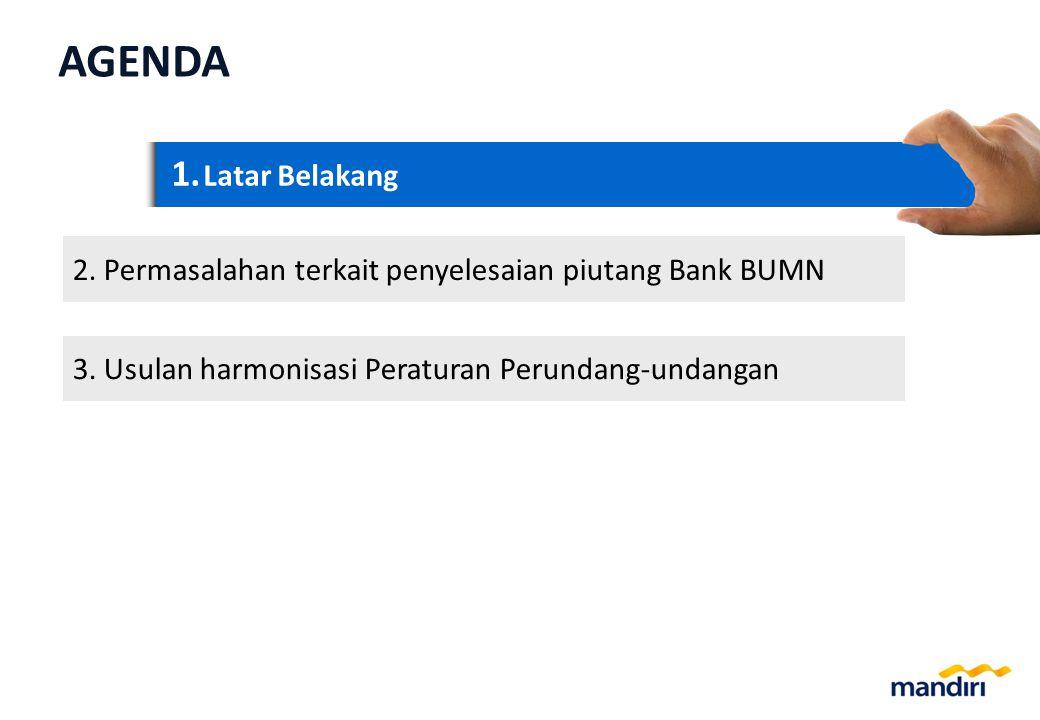1.1. Latar Belakang 2. 2.Permasalahan terkait penyelesaian piutang Bank BUMN 3.