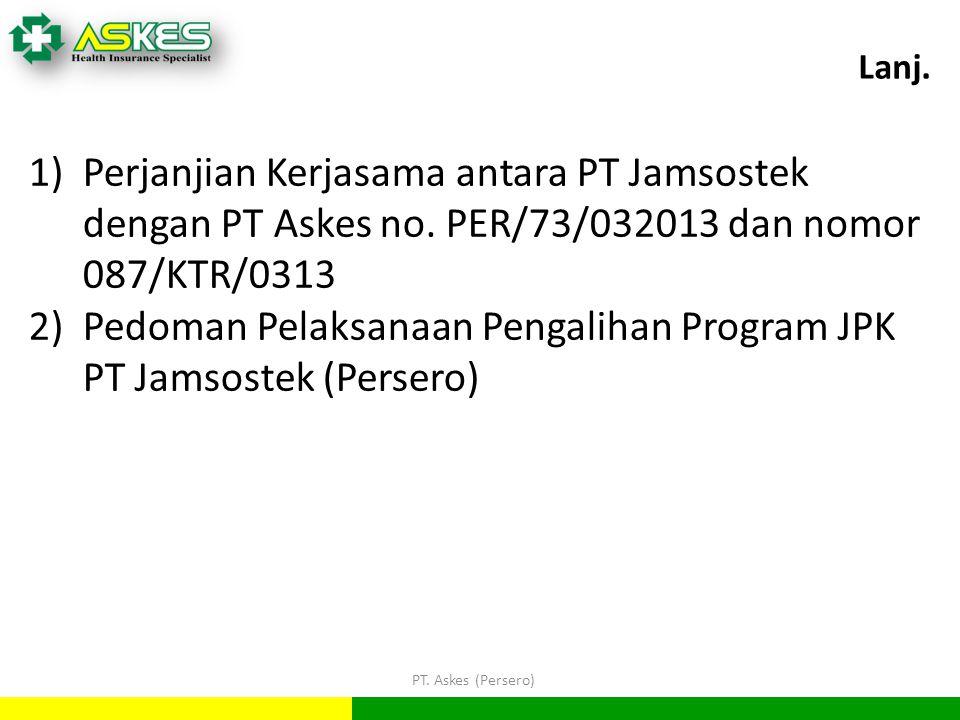 PT.Askes (Persero) Lanj. 1)Perjanjian Kerjasama antara PT Jamsostek dengan PT Askes no.
