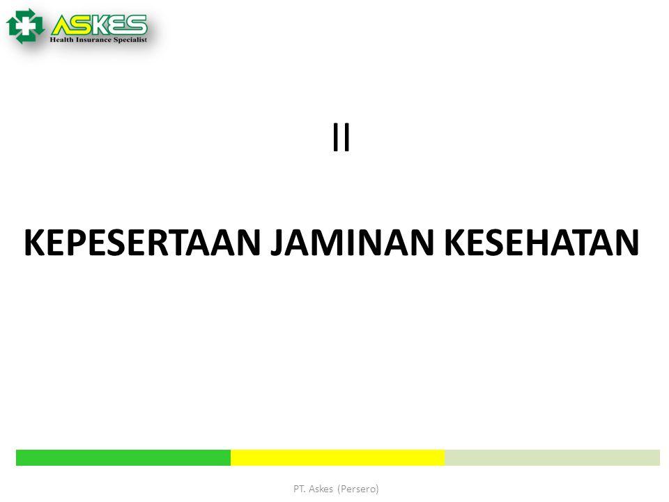 PT. Askes (Persero) KEPESERTAAN JAMINAN KESEHATAN II